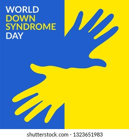 World Down Syndrome Day on 21 march, a Down Syndrome Awareness day vector illustration