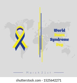 World Down Syndrome Day on March 21 with banner vector design