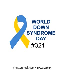 world down syndrome logo. poster. card