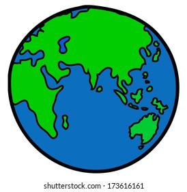 World drawing vector