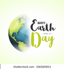 World Earth Day Background/ Illustration of a happy earth day banner, for nature and environment preservation holiday celebration