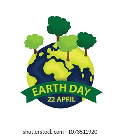World earth day concept. vector Illustration.