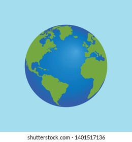 world and earth flat icon,symbol and vector,Can be used for web, print and mobile