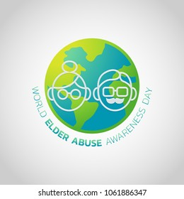 World Elder Abuse Awareness Day Vector illustration