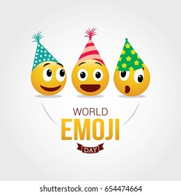World Emoji Day Vector Illustration