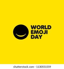 World Emoji Day Vector Template Design Illustration