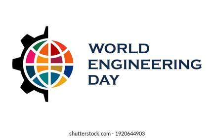 World engineering day logo template illustration