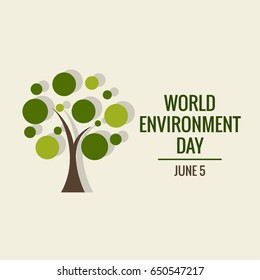 World environment day concept. Vector illustration.
