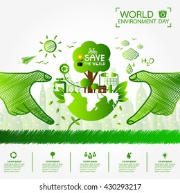 World environment day greeting design stock vector