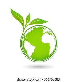 World environmental saving and ecology friendly concept, Vector illustration
