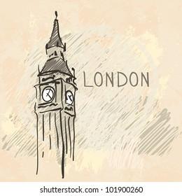 World famous landmark series: Big Ben, London, England