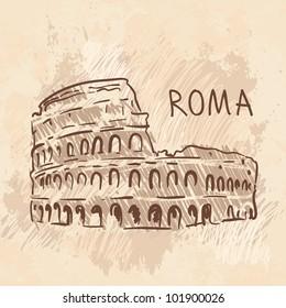 World famous landmark series: Colosseum, Rome, Italy