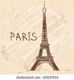 World famous landmark series: Eiffel Tower, Paris, France