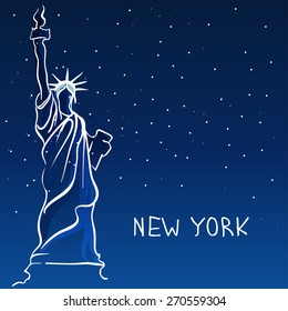 World famous landmark series: Statue of Liberty, New York, USA