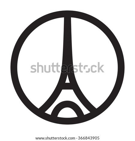 World Famous Landmark Symbol Paris France Stock Vector Royalty Free