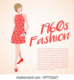 World Fashion History Set : 1960s : Vector Illustration