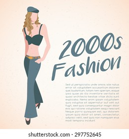 World Fashion History Set : 2000s : Vector Illustration