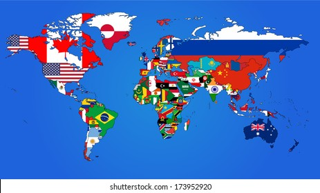 Flag World Map.World Map Flags Images Stock Photos Vectors Shutterstock