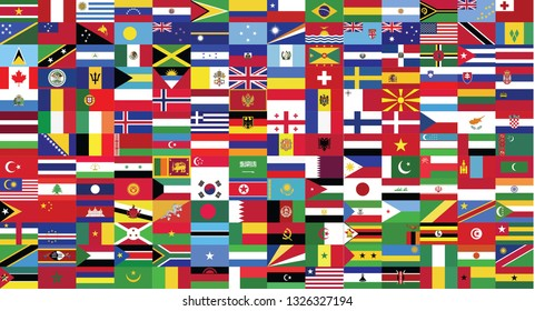 World flags background-World flag collection