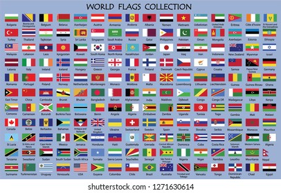 World Flags Collection with Countries names