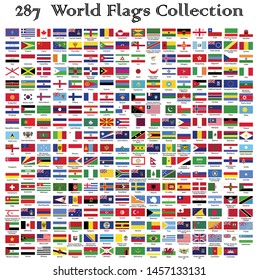 World Flags Collection,official Flags Collection,Vector illustration Design.