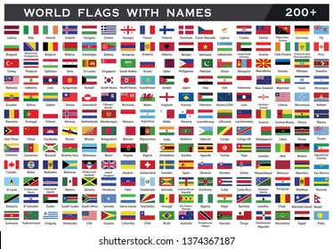 World Flags with names.World flag collection