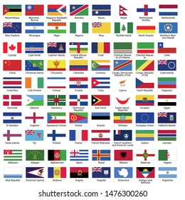 World Flags Nation Flags Flag with country name