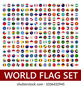 world flags set. flag set icon. vector flag . flag of the world. vector illustration