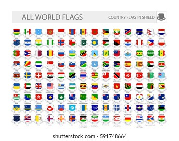 World Flags In Shields. Part 2. All flags are organized by layers with each flag on a single layer properly named.