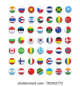 world flags . vector icon
