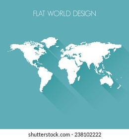 World flat icon design