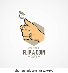 World Flip a Coin Vector Design.