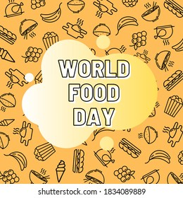 World Food Day illustration for Greeting, Social Media Posting, Template/Background