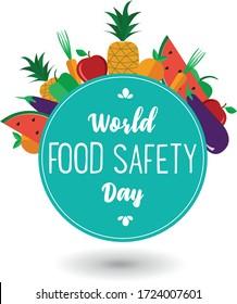 World food safety day celebration card vector design illustration.