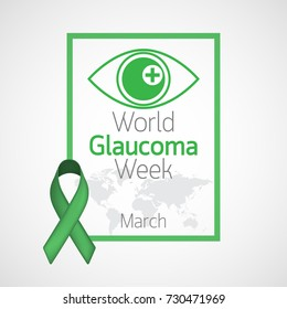 World Glaucoma Week vector icon illustration