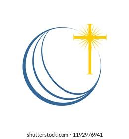 World Global Enlightenment Cross Church Symbol Design