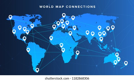 points world maps stock vector royalty free 128207732 shutterstock
