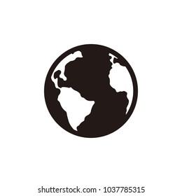World, globe icon