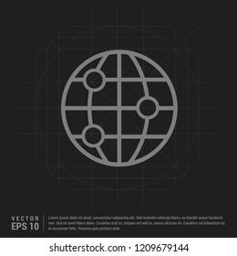World globe icon - Black Creative Background - Free vector icon