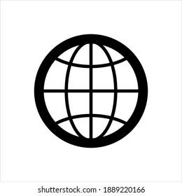 World globe icon vector graphic illustration