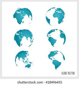 World globe, vector illustration.