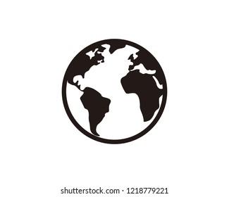 World globe web icon