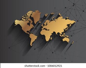 World gold map