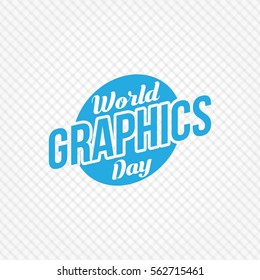 World Graphic Day Vector Design. Flat style