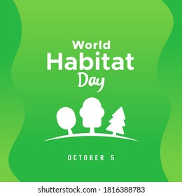 World Habitat Day Vector Design Illustration