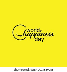 world happiness day, happiness day template, world happiness day logo vector