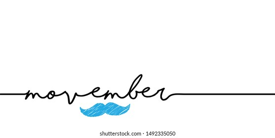 World happy movember No Shave month Prostate cancer moustache light blue ribbon November man's health No Shave awareness month men day vector icon ribbons ribbon  Sign health heart shaving Choose Hope