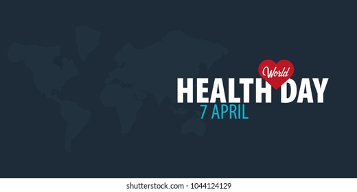 Creative typography greetings new month hello stock vector 680108608 world health day 7 april medical banner vector illustration m4hsunfo Gallery