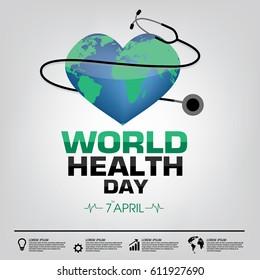 World Health Day Campaign Logo Icon Design Template. Vector Illustration