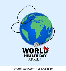 World health day celebrated on April 7, logo icons for your design, vector illustration